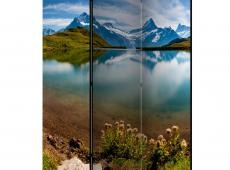 Paraván - Lake with mountain reflection, Switzerland [Room Dividers]